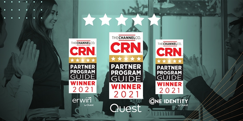 One Identity, Quest & Erwin honored with 5-star ratings in the 2021 CRN Partner Program Guide (PPG)