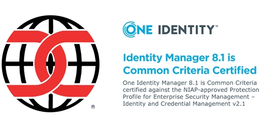 Identity Manager 8.1 is Common Criteria Certified