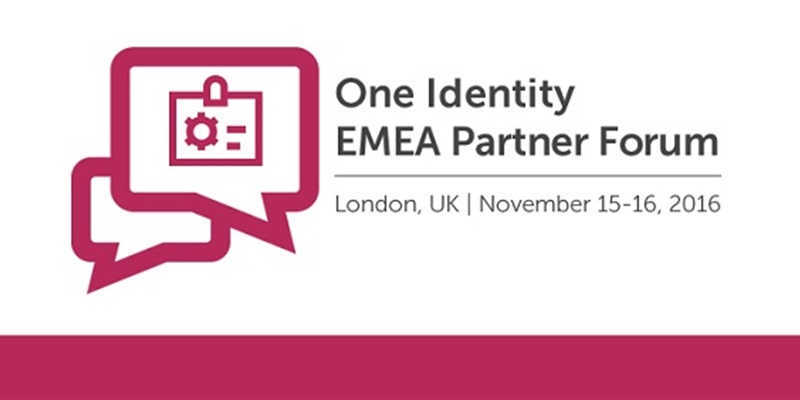 Join us for the One Identity EMEA Partner Forum