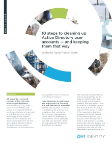 10 steps to cleaning up Active Directory user accounts -- and keeping them that way