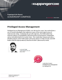 KuppingerCole has positioned One Identity as a Leader in the Leadership Compass for Privileged Access Management