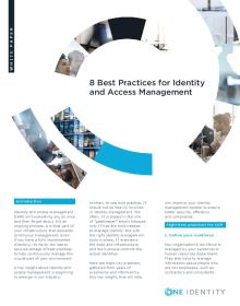 8 Best Practices for Identity and Access Management
