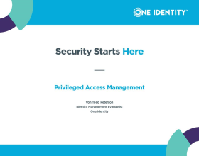 Sicherheit beginnt hier: Privileged Access Management