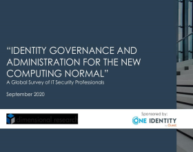 Full Results of our 2020 Global Survey – Identity Governance and Administration (IGA) for the New Computing Normal