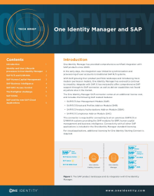 Get comprehensive and certified SAP integration with Identity Manager