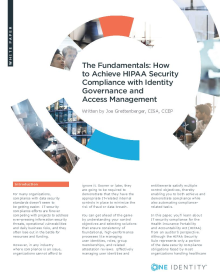 How to Achieve HIPAA Security Compliance with Identity Governance and Access Management