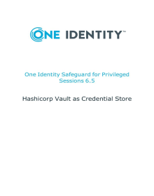How to integrate of HashiCorp Vault with Safeguard for Privileged Sessions