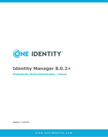Identity Manager 8.0.2 and PingFederate OAuth Authentication Guide