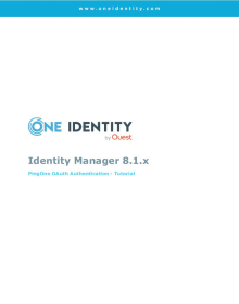 Identity Manager 8.1.x and PingOne OAuth Authentication