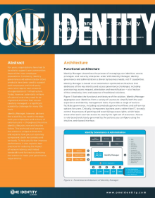 Identity Manager Scalability and Performance