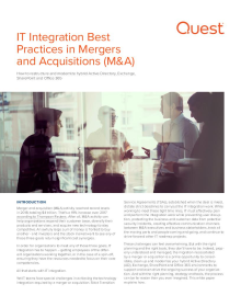 IT Integration Best Practices in Mergers & Acquisitions (M&A)