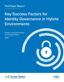 Key Success Factors for Identity Governance in Hybrid Environments