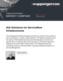 KuppingerCole 2021 IGA and ServiceNow Infrastructures Market Compass