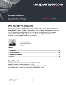 KuppingerCole Executive Review of One Identity Safeguard
