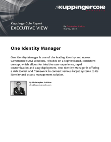KuppingerCole Executive View on Identity Manager