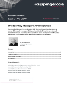 KuppingerCole- One Identity Manager SAP Integration