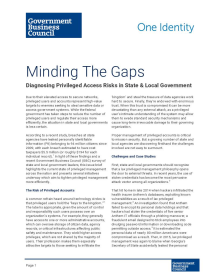 Minding The Gaps: Diagnosing Privileged Access Risks in State & Local Government