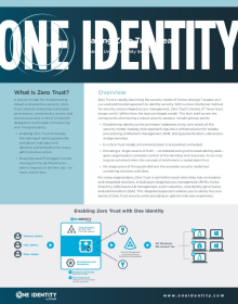 One Identity Makes Zero Trust Security a Reality