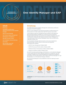 One Identity Manager und SAP