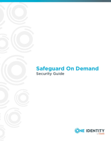 One Identity Safeguard On Demand Security Guide
