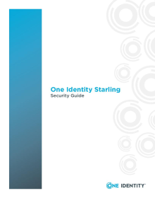 One Identity Starling Security Guide