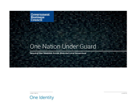 One Nation Under Guard: Securing User Identities Across State and Local Government