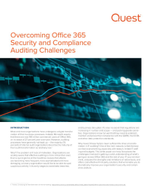 Overcoming Office 365 Security & Compliance Auditing Challenges