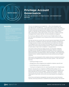 Privilege Account Governance - Close the gap between privileged access and standard-user identities