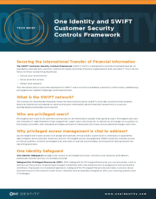 One Identity and SWIFT Customer Security Controls Framework