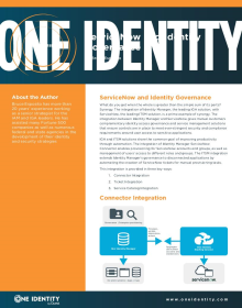 ServiceNow and Identity Governance