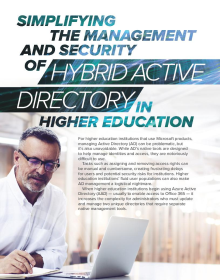 Simplifying the Management and Security of Hybrid Active Directory in Higher Education