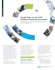 Single Sign-on for SAP