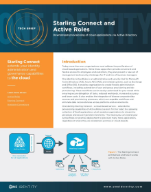 Starling Connect and Active Roles: Downstream provisioning of cloud applications via Active Directory