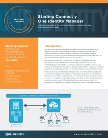 Starling Connect and One Identity Manager: Unifique la gestión y los controles de acceso para todas sus aplicaciones en la nube