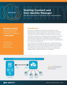 Starling Connect and One Identity Manager: Unify governance and access controls for all your cloud applications