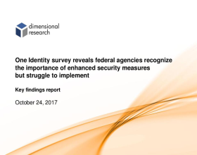 Survey Reveals Federal Agencies Still Struggle to Effectively Implement Identity Management Even in the Face of Legislative Pressure