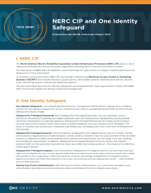 NERC CIP and One Identity Safeguard - Protecting the North American Power Grid