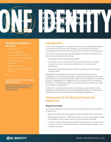 Understanding the Security Architecture of the One Identity Safeguard Appliance