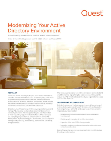 Modernizing Your Active Directory Environment