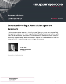 KuppingerCole White Paper: Enhance Privilege Access Management Solutions