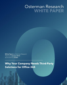 Why Your Company Needs Third Party Solutions for Office 365