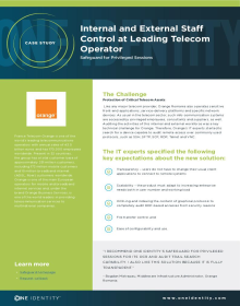 Orange telecom monitors internal and external privileged access with One Identity Safeguard