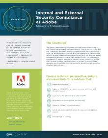 Adobe achieves internal and external security compliance with Safeguard for Privileged Sessions