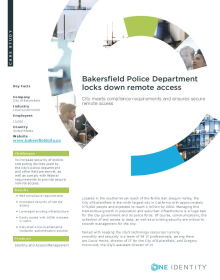 Bakersfield Police Department locks down remote access with Defender