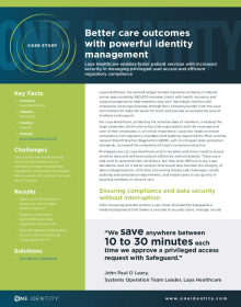 Better care outcomes with powerful identity management