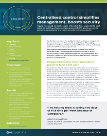 Centralised control simplifies management, boosts security