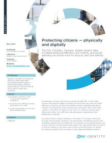 City of Golden CO: Protecting citizens — physically and digitally