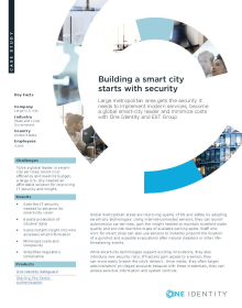 City realizes its vision of becoming a smart city with One Identity solutions and EST Group
