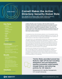 Cornell University secures a distributed AD environment