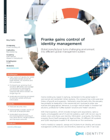 Franke gains control of identity management